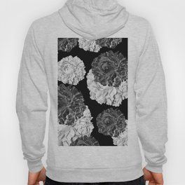 CABBAGE ROSES BLACK AND WHITE Hoody