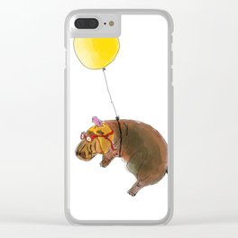 Flying Hippo Clear iPhone Case