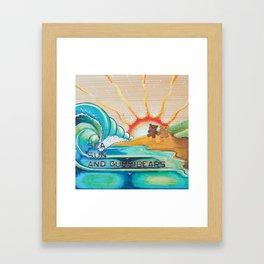 Sea, Sun and Gummibears Framed Art Print