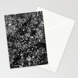 Stones in black sand beach Stationery Cards