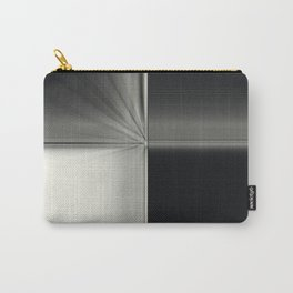 Modern Black White Block Zoom Design Carry-All Pouch