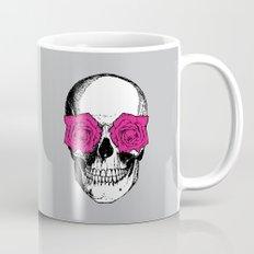 Skull and Roses | Grey and Pink Mug