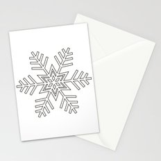 Snowflake | Black and White Stationery Cards