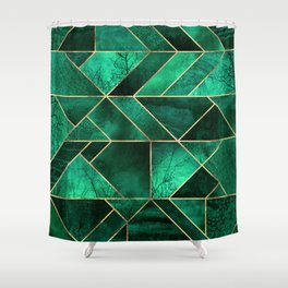 Abstract Nature - Emerald Green Shower Curtain
