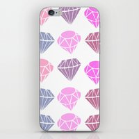 diamonds iPhone & iPod Skins featuring Diamonds by Jenny Viljaniemi