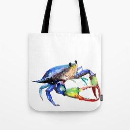 Crab, Sea World Rainbow Colors Beach Tote Bag
