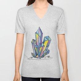 Rainbow Crystals Unisex V-Neck