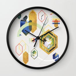 MidCentMod Collage 2 Wall Clock