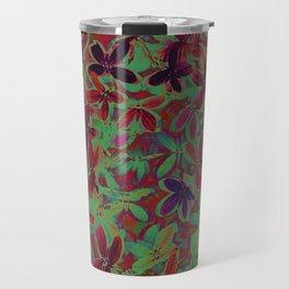 Flora Celeste Purple Agata Leaves   Travel Mug