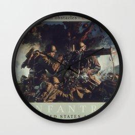 Vintage poster - U.S. Infantry Wall Clock
