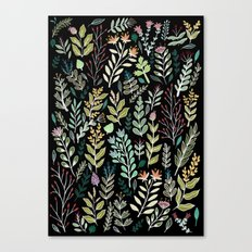 Dark Botanic Canvas Print