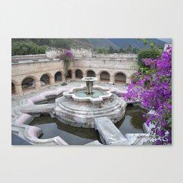 Antigua Guatemala Fountain Canvas Print
