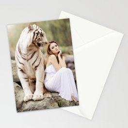 White Tiger from Bengal | Tigre blanc du Bengale Stationery Cards