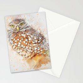 Bird animal owl art abstract Stationery Cards