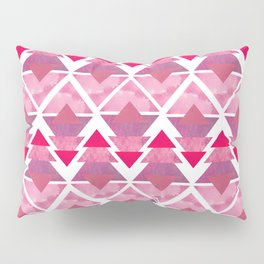 Pink Geometric Forest Pillow Sham
