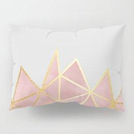 Pink & Gold Geometric Pillow Sham