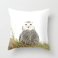hedwig Throw Pillows featuring Hedwig by Ruurd Jelle van der Leij Highkeyart