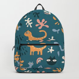 Cats Collection - Catisse Green Backpack