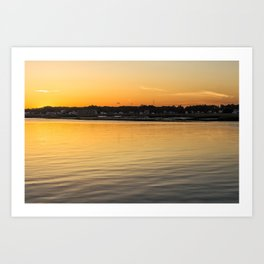 Chincoteague Bay at Sunset Art Print