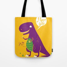 The Friendly T-Rex Tote Bag