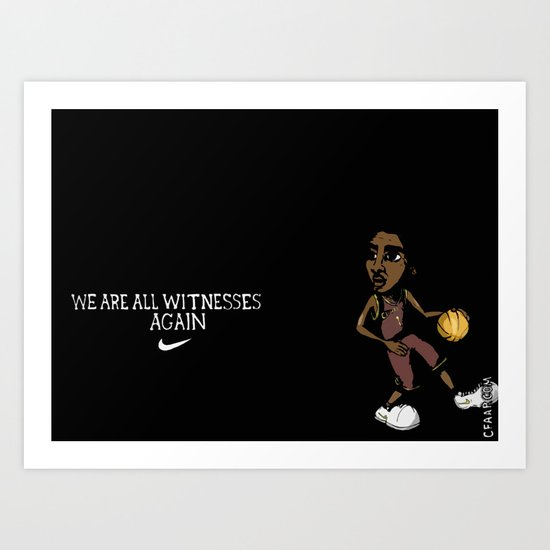 "Kyrie Irving ""We Are All Witnesses... Again"" Banner Art Print"
