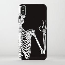 Okay Skeleton Close up iPhone Case