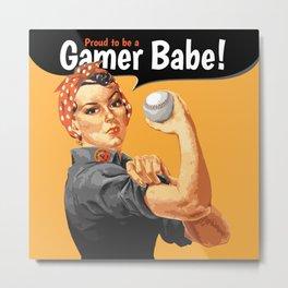 Gamer Babe Metal Print