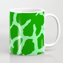 Green Giraffe Print Coffee Mug