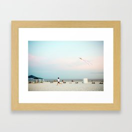 Running Beach Framed Art Print