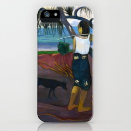 Under the Pandanus by Paul Gauguin iPhone Case
