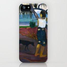 Under the Pandanus by Paul Gauguin iPhone Case