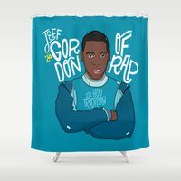 jay z Shower Curtains featuring Jay Gordon by Chelsea Herrick