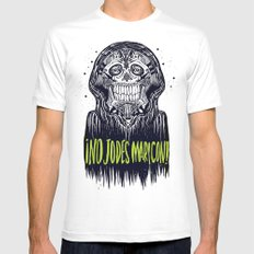 no jodes maricon White MEDIUM Mens Fitted Tee