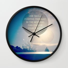 Positive Thought Wall Clock