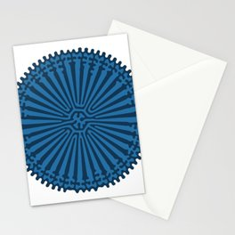 Reaction Diffusion Ornament (Blue) Stationery Cards