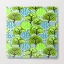 Retro Trees, in blue and green by zeldashafferdesigns