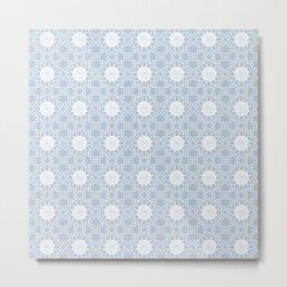 Doily - grey blue Metal Print