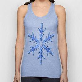 Minimalistic Ice Blue Snowflake Unisex Tank Top