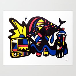 POP! TV  Art Print