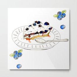 Blueberry Pie Metal Print