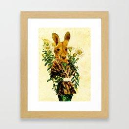 Australian Icon: The Kangaroo Framed Art Print