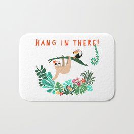 Hang in there! - Sloth Bath Mat