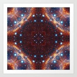 Galaxy Fractal Art Print