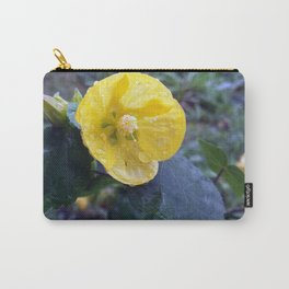 Yellow Flower with raindrops Carry-All Pouch