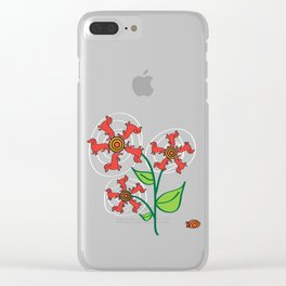 Doxie Flower - Dachshund Dog - Weiner Dog - Weenie Dog Clear iPhone Case