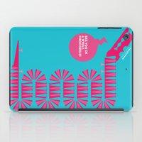 crocodile iPad Cases featuring crocodile by doretta rinaldi