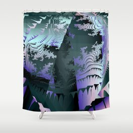 Satin Fragments Shower Curtain
