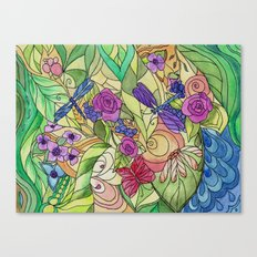 Stained Glass Garden Too Canvas Print