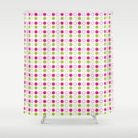 polka dot Shower Curtains featuring Polka Dot by Ryan Grice