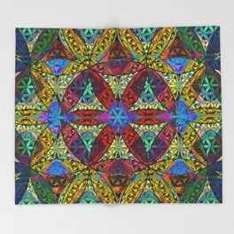 The Flower of Life (Sacred Geometry) Throw Blanket